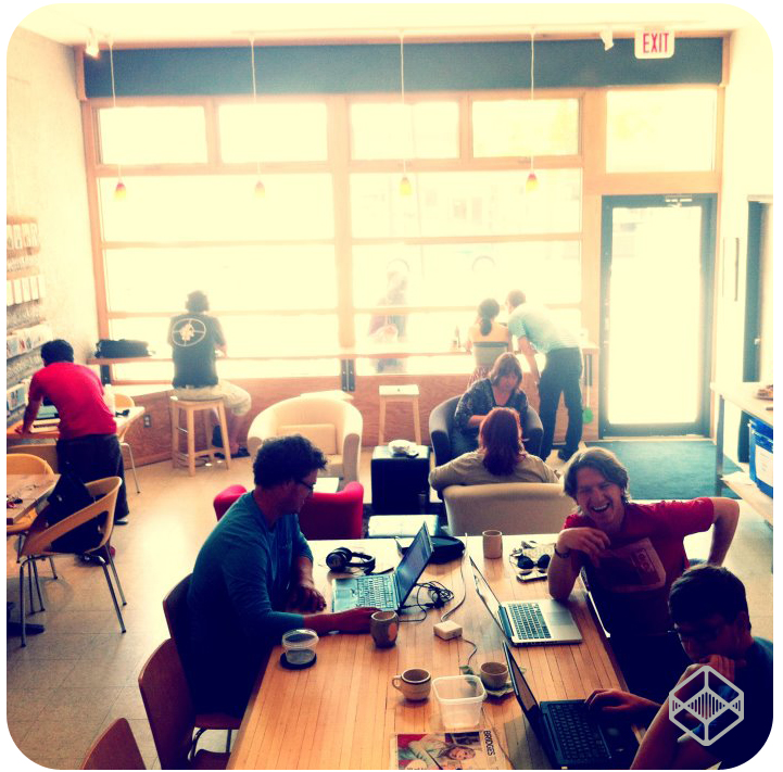 Coworking in The Common at The Two Twenty.