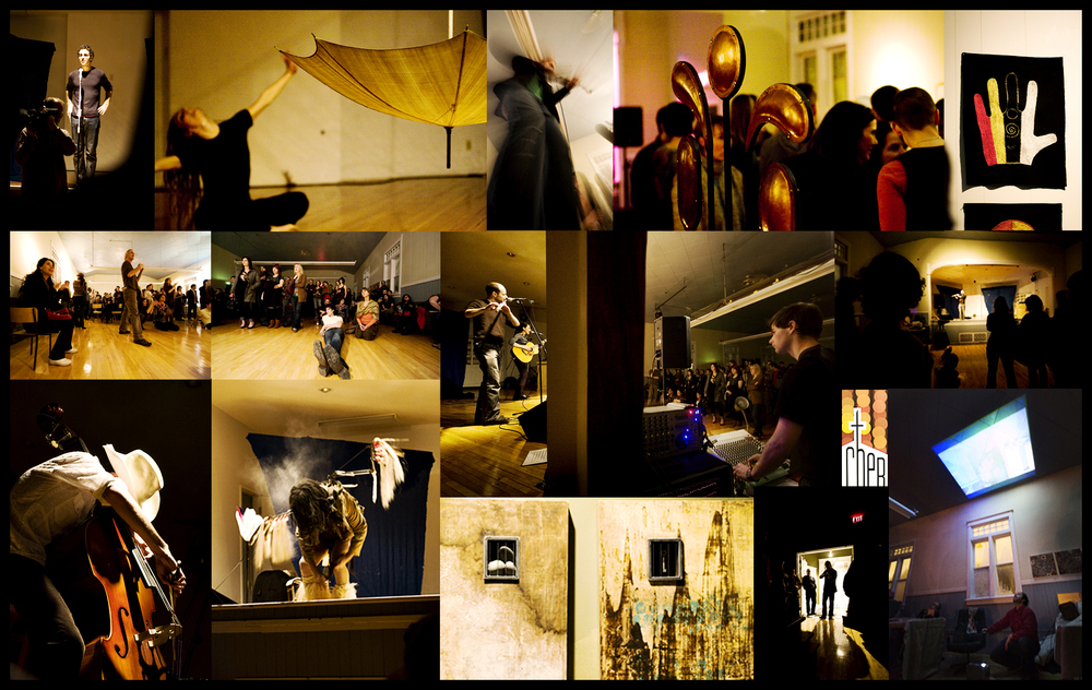 Art Performances at The Cherch on Avenue G with approximately 300 people in attendance.