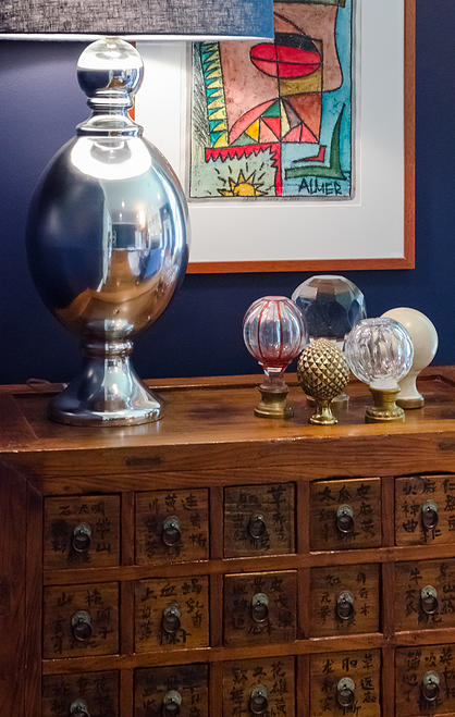 This is a vignette from a friend and crazy talented  designer's living room