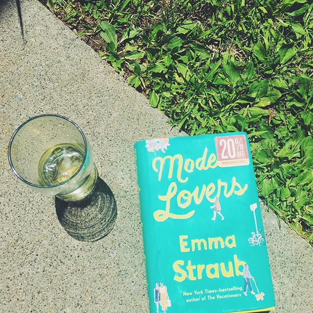 Hooray for @emmastraub new book, which is my only outdoor companion during this ungodly heat wave since my family has abandoned me for the AC.