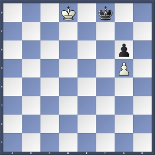 POSITION 2 - White to play: Black (with the opposition) loses anyway!
