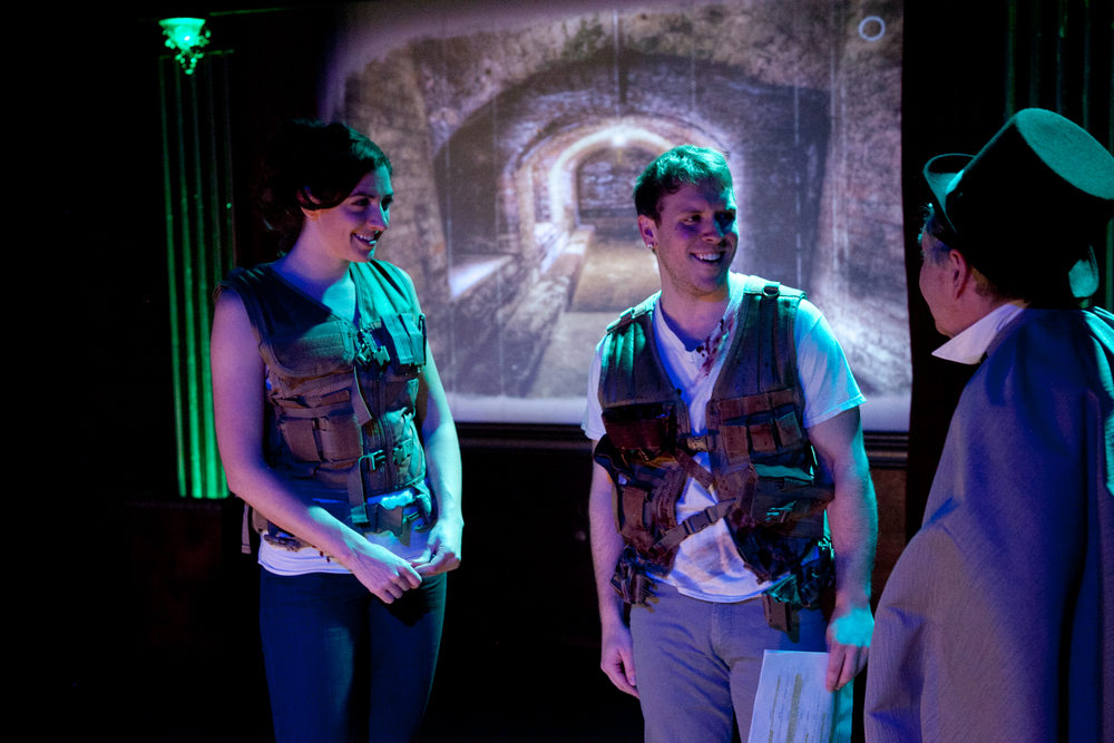 Courtney Jones   (L),   Christopher Selefski (M) & Vincent Lonergan in   The Next Thing