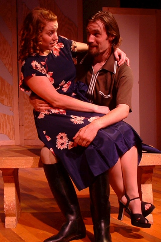 "Melanie Keller (L) & Christopher Prentice (R) in ""Much Ado About Nothing"""