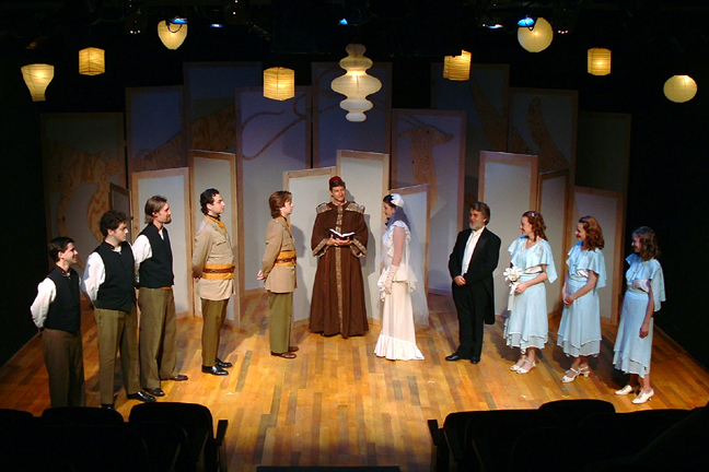 "From Left To Right : Eric Paskey, Charles Schoenherr, Christopher Prentice, Joseph Stearns, Aaron Snook, Bob Wilson, Meredith Bell Alvarez, Vincent L. Lonergan, Melanie Keller, Tiffany Carter Coleman & Erin Myers in ""Much Ado About Nothing"""