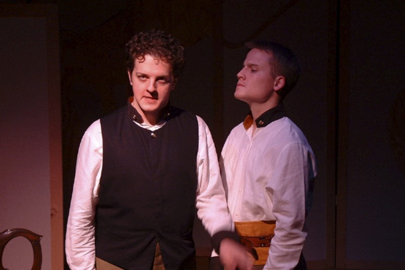 "Charles Schoenherr (L) & Christopher Clementson in ""Much Ado About Nothing"""