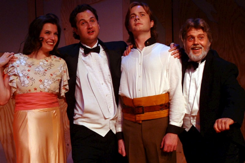 "From Left To Right: Meredith Bell Alvarez, Jospeh Stearns, Aaron Snook & Vincent L. Lonergan in ""Much Ado About Nothing"""