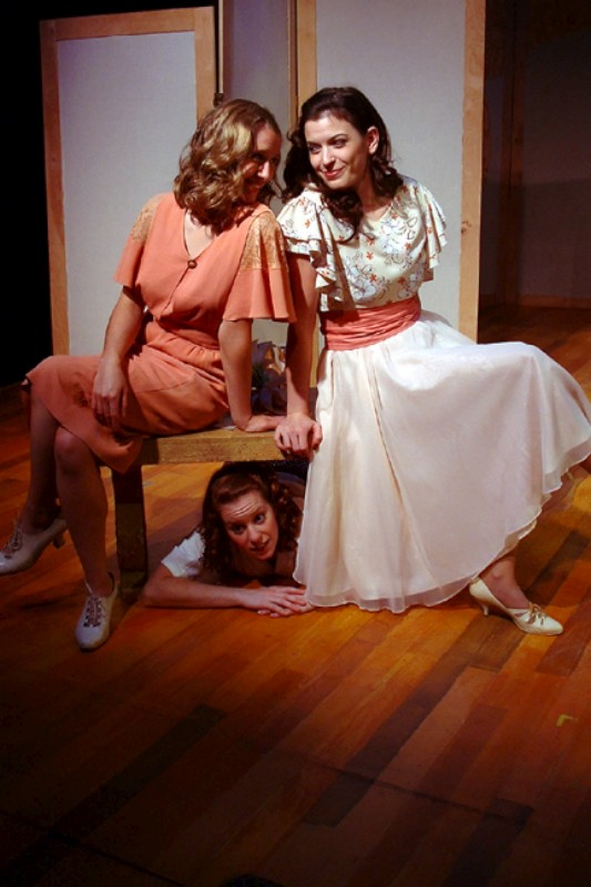 "Erin Myers (L), Melanie Keller (M) & Meredith Bell Alvarez (R) in ""Much Ado About Nothing"""