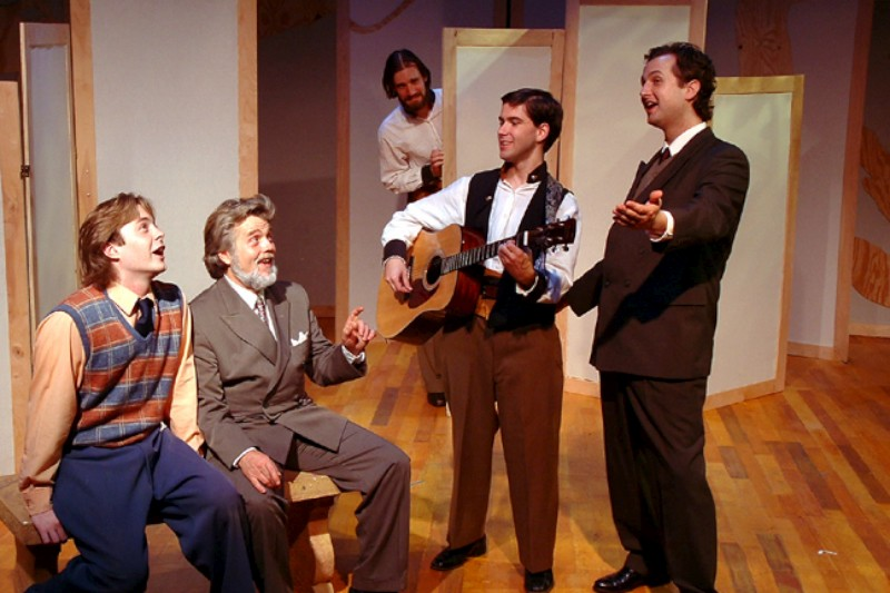 "From Left To Right: Aaron Snook, Vincent L. Lonergan, Christopher Prentice, Eric Paskey & Joseph Stearns in ""Much Ado About Nothing"""
