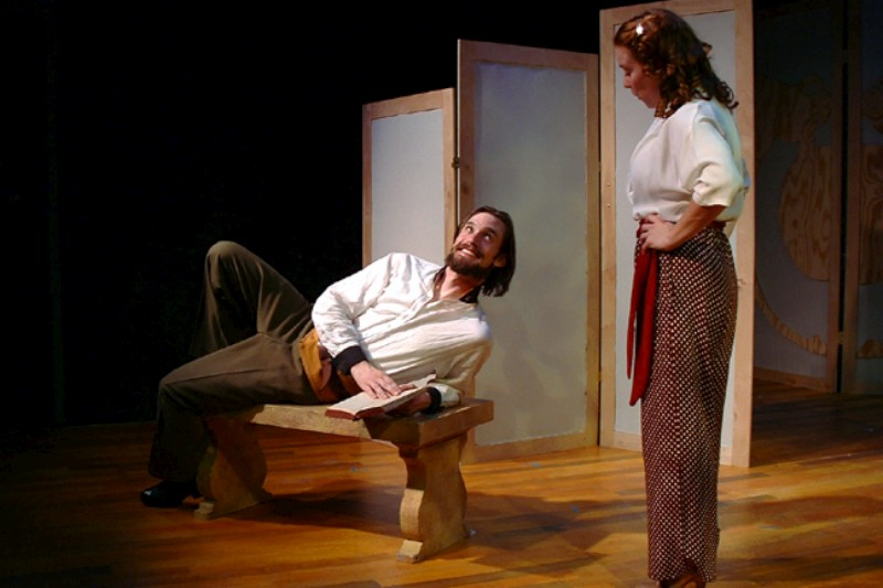 Christopher Prentice (L) & Melanie Keller in  Much Ado About Nothing