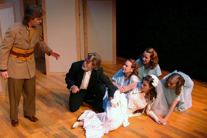 From Left To Right : Aaron Snook, Vincent L. Lonergan, Melanie Keller, Tiffany Carter Coleman, Meredith Bell Alvarez & Erin Myers in  Much Ado About Nothing