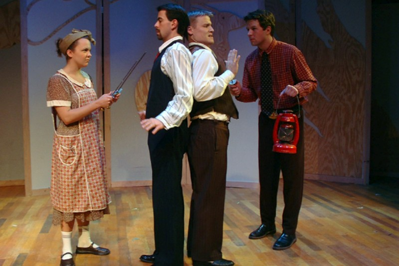 From Left To Right : Jennifer Faletto, Michael E. Smith, Christopher Clementson & Len Hoover in  Much Ado About Nothing