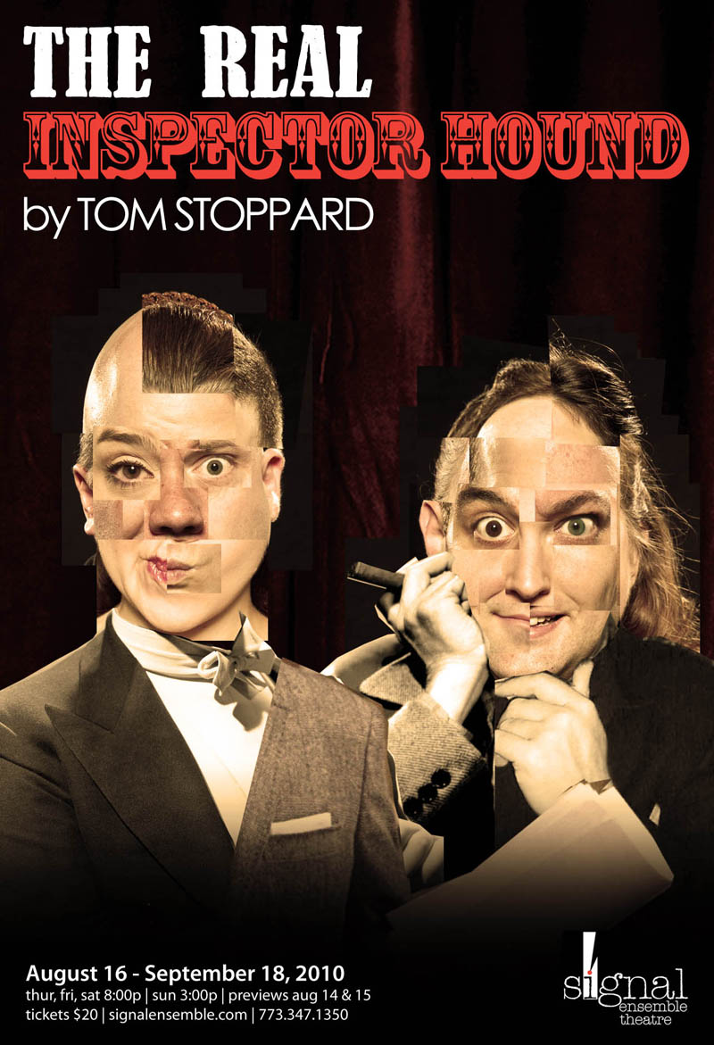 """Poster For """"The Real Inspector Hound"""""""