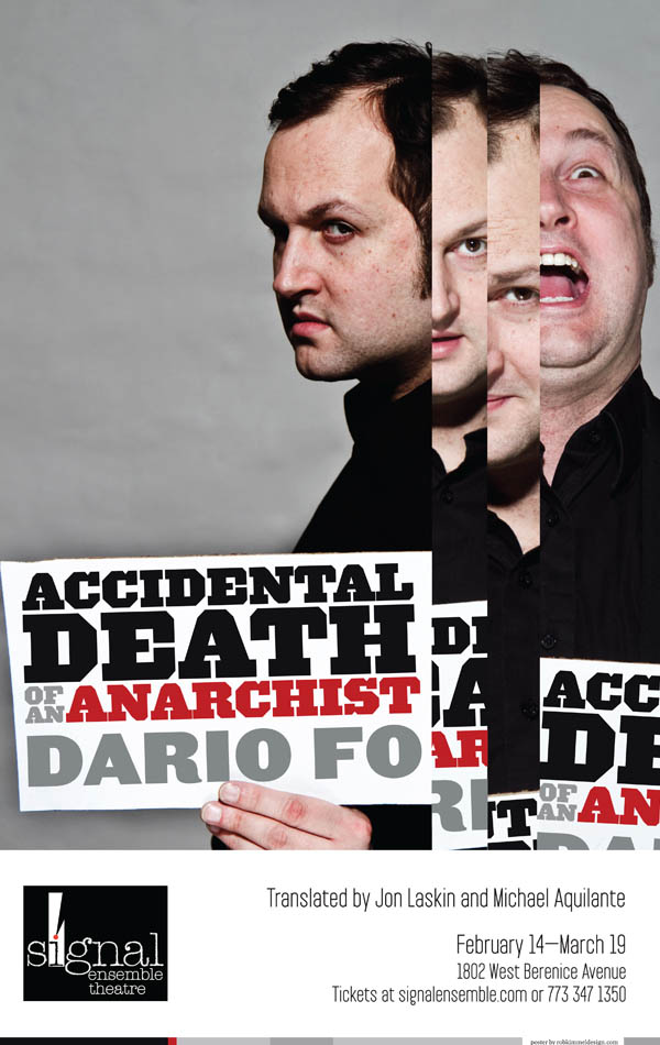 "Poster For ""Accidental Death Of An Anarchist"""