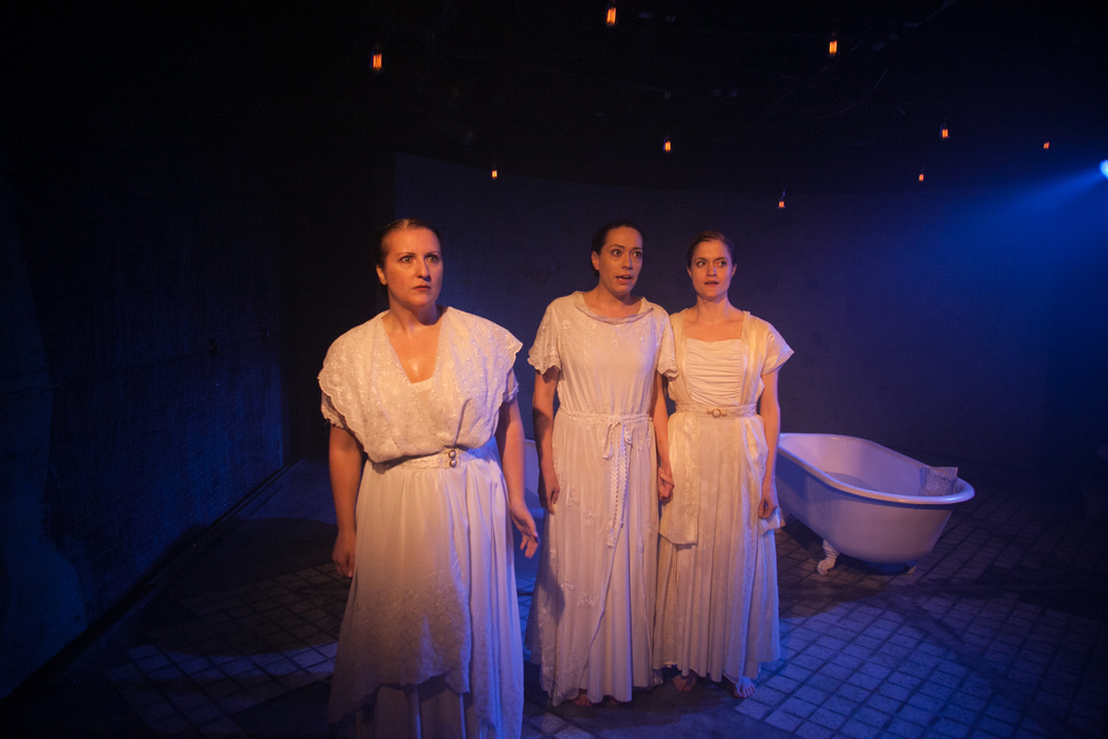 From L to R: Anne Sheridan Smith, Katherine Schwartz & Meghan Reardon in  The Drowning Girls