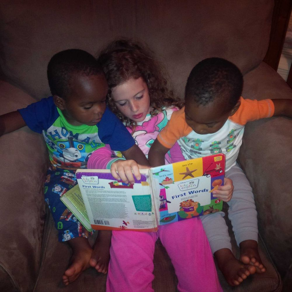 Reading with Big Sister