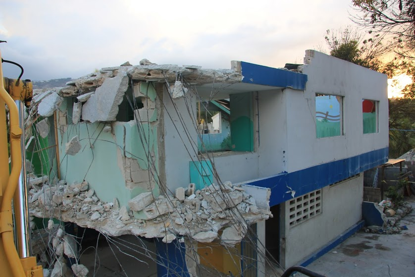 Original Orphanage building damaged by the Earthquake of 2010