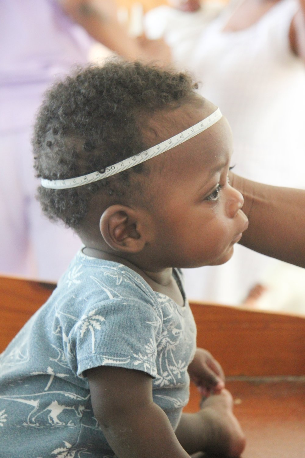 Lots of measurements are included in the growth charts of children like Jean Jules at Angel House Orphanage