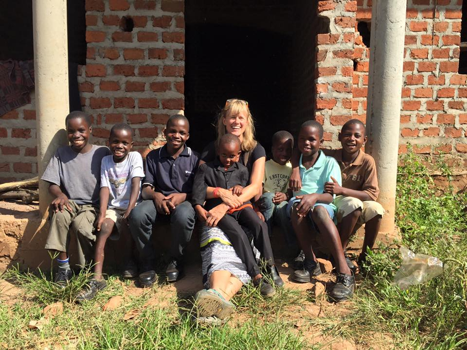 Dr. Lori Hines and the boys visiting they boy's future home. July 2015