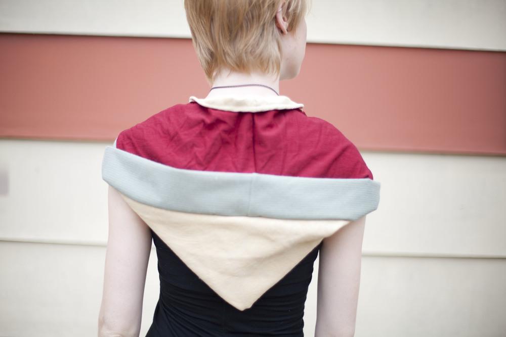 Large Reversible Hood  Model Deanna Tipton  Photographer Ruslan Tumash