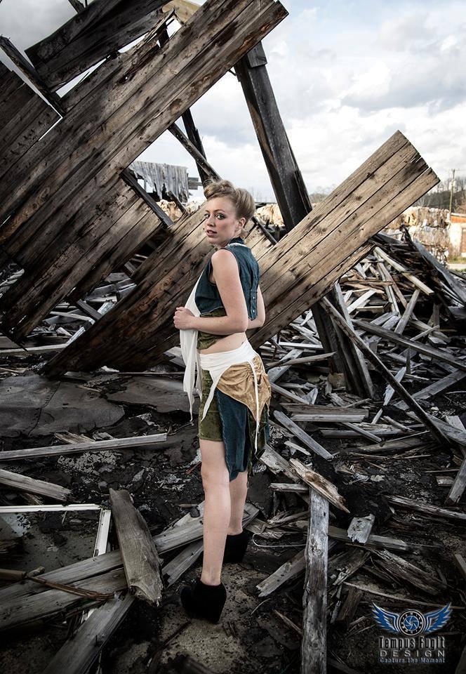 model Aubrey Jean  Tempus Fugit Design