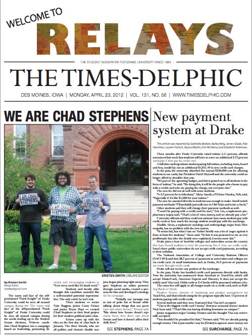 The Times-Delphic [Drake University Newspaper]