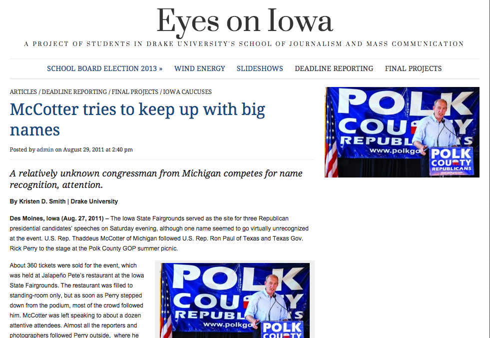 Eyes On Iowa [Journalism Blog}