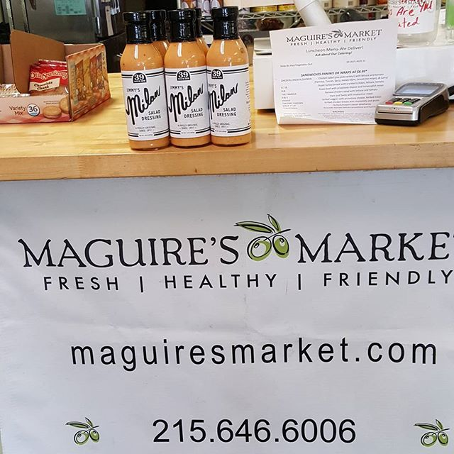McGuires market Jimmy's Milan Salad Dressing appearing here now #Milan39  #delicious #deli #Maguire's #phillyeats