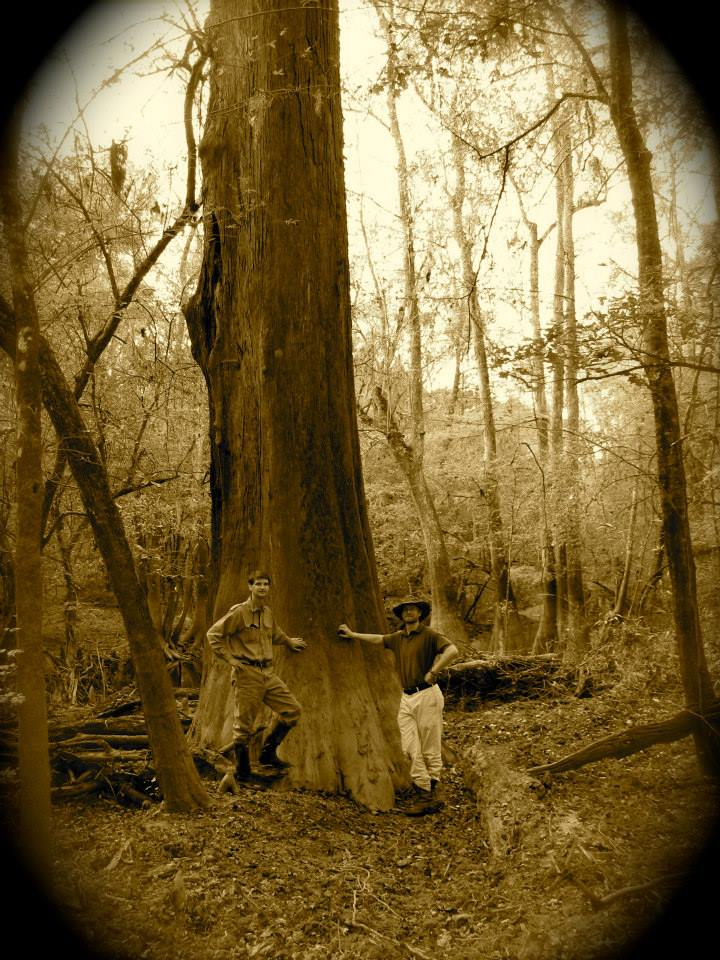 Buck and Frank Turner beside Big Cypress in Congaree National Forest