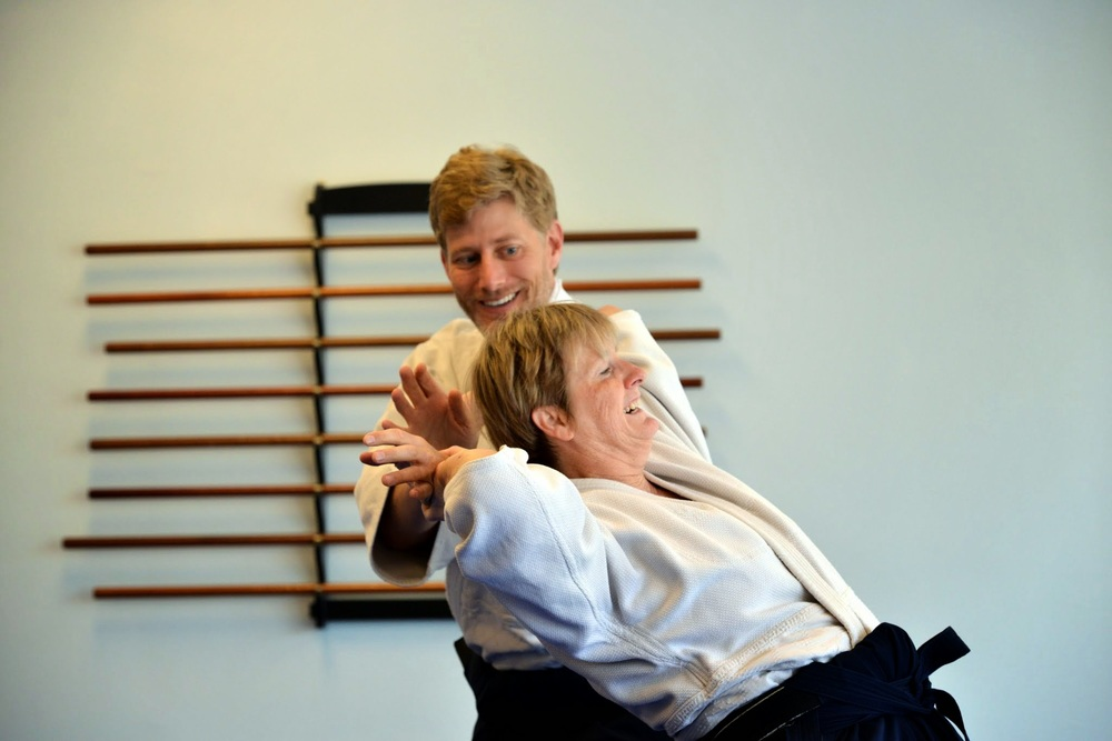 Training with Dee Seabolt, chief instructor at Aikido Center of Jacksonville
