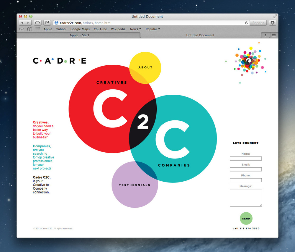 Cadre C2C live home page.jpg