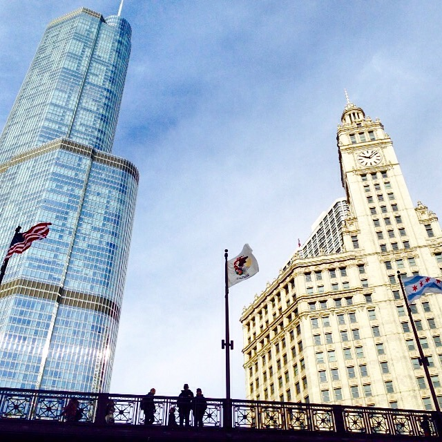 We took the architecture tour on a boat through the Chicago River and got to learn all about the buildings!