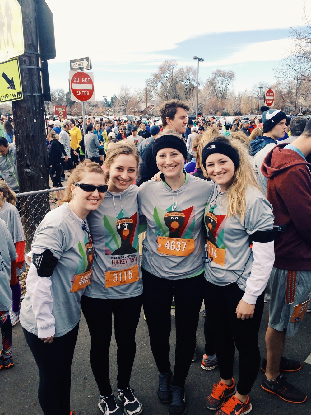 My sisters and I ran the Turkey Trot at Washington Park! It was a good way to start the day.