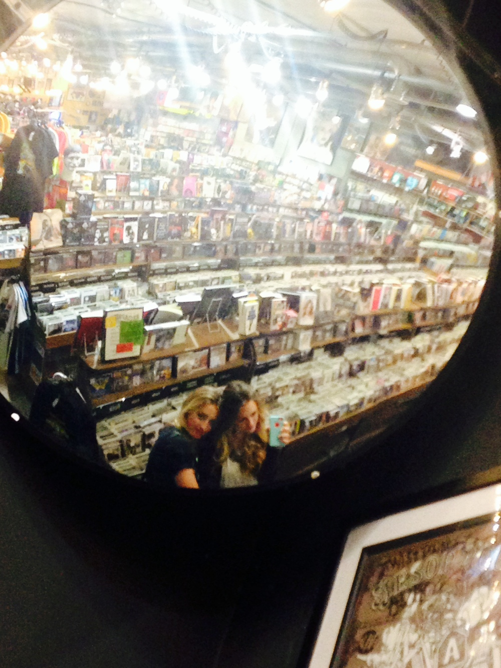 Record store hangouts with sis!
