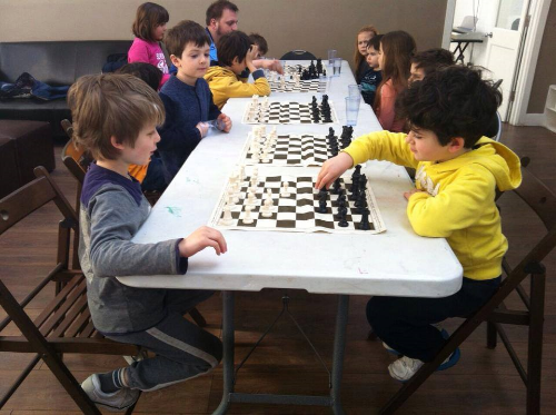 Join our Saturday Chess club.