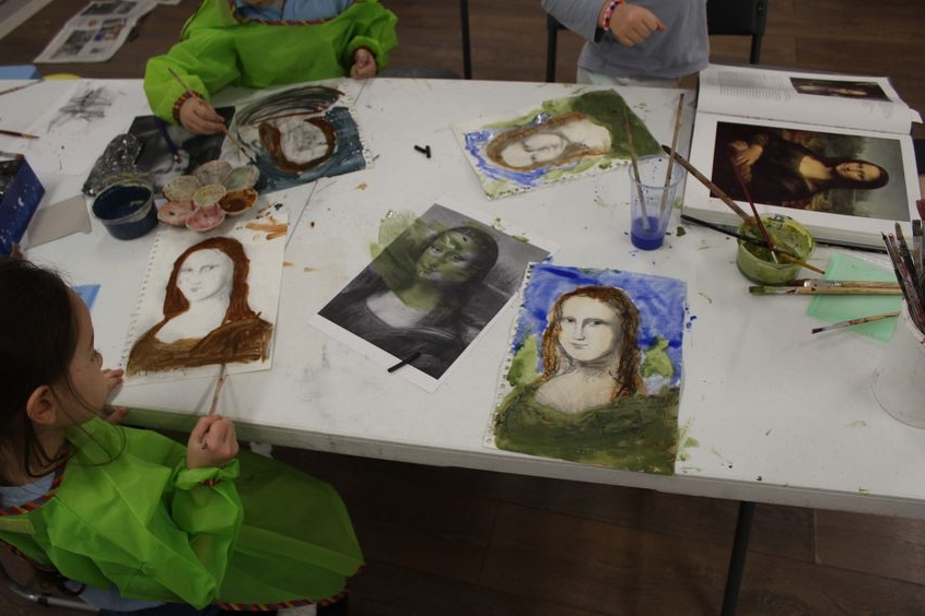 Image from a previous Leonardo DaVinci art workshop.