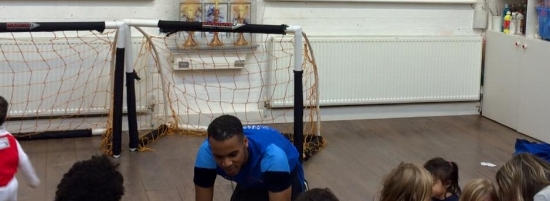 Minifootball for toddlers with Daniel