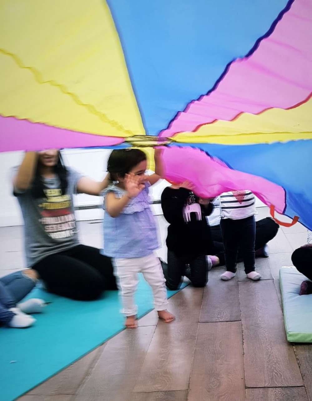 Live Music and Rhymes - This class offers a stimulating environment for your little one to explore live music sounds and baby sign language. Also, this class is a change for your child to interact with other babies. Research shows that music helps infants exposed to a rich acoustic environment by physically boosting brain development.Offered: Mondays and Wednesdays at 10:00Sign up: You can trial the class for £12.90 click here.Instructor: Rhianon/Oleg/James