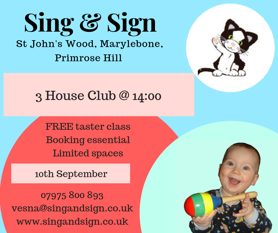 Sing & Sign Free Taster classes NW8
