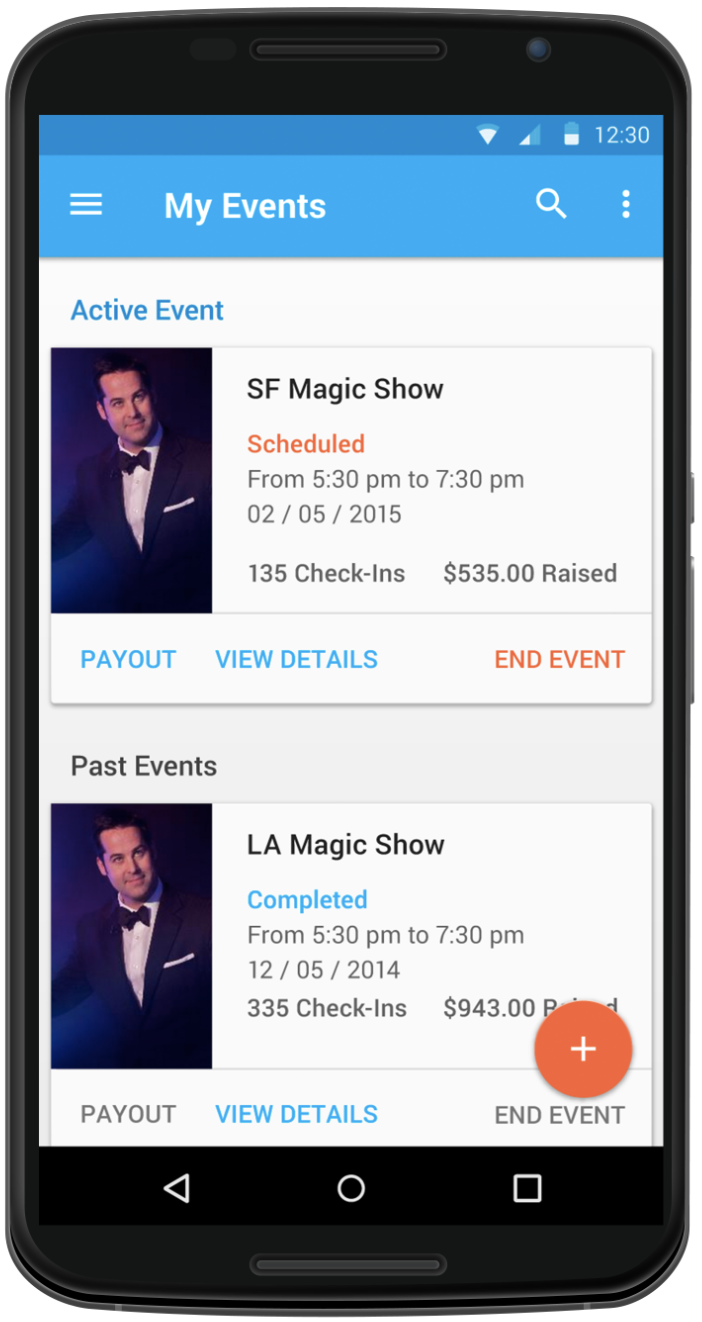 Manage your events easily