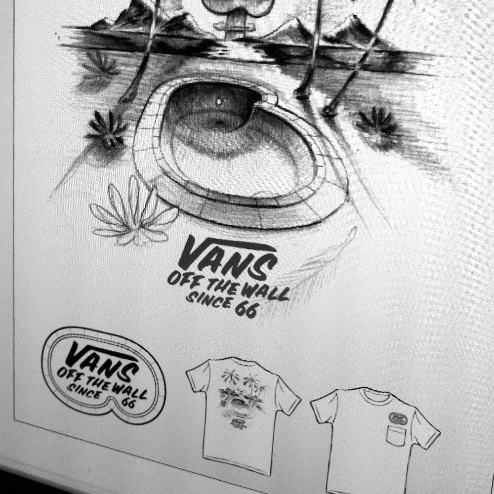 T-shirt layout