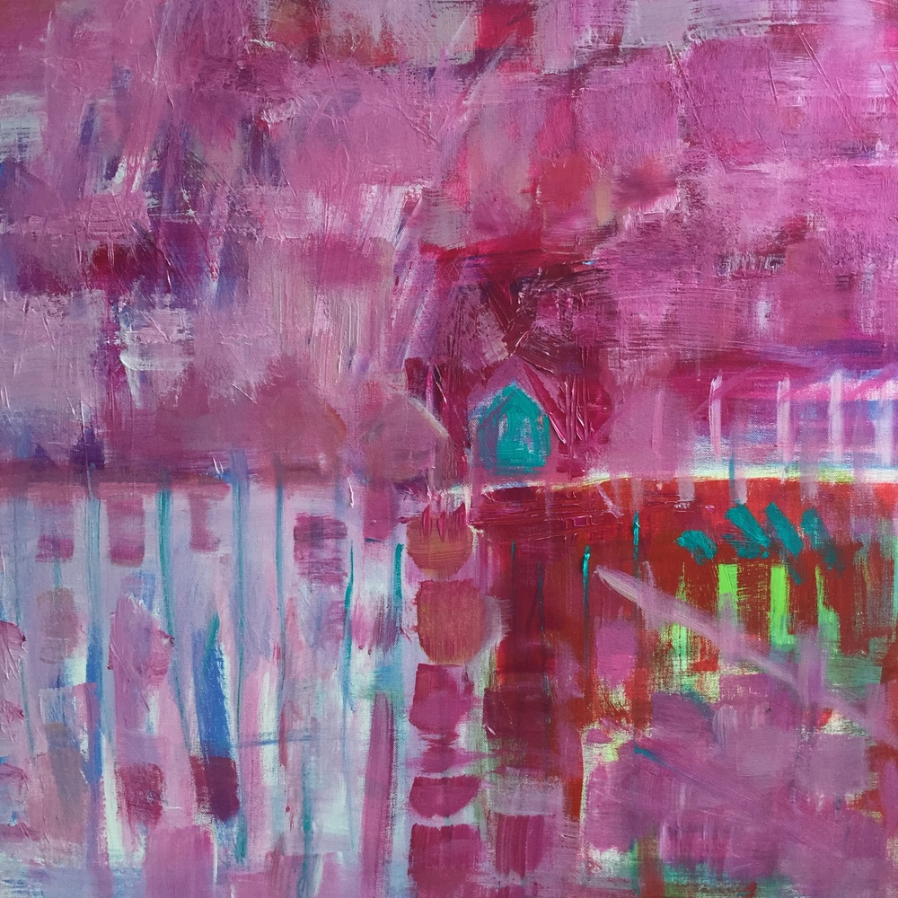 Pink Whitstable 90x90cm