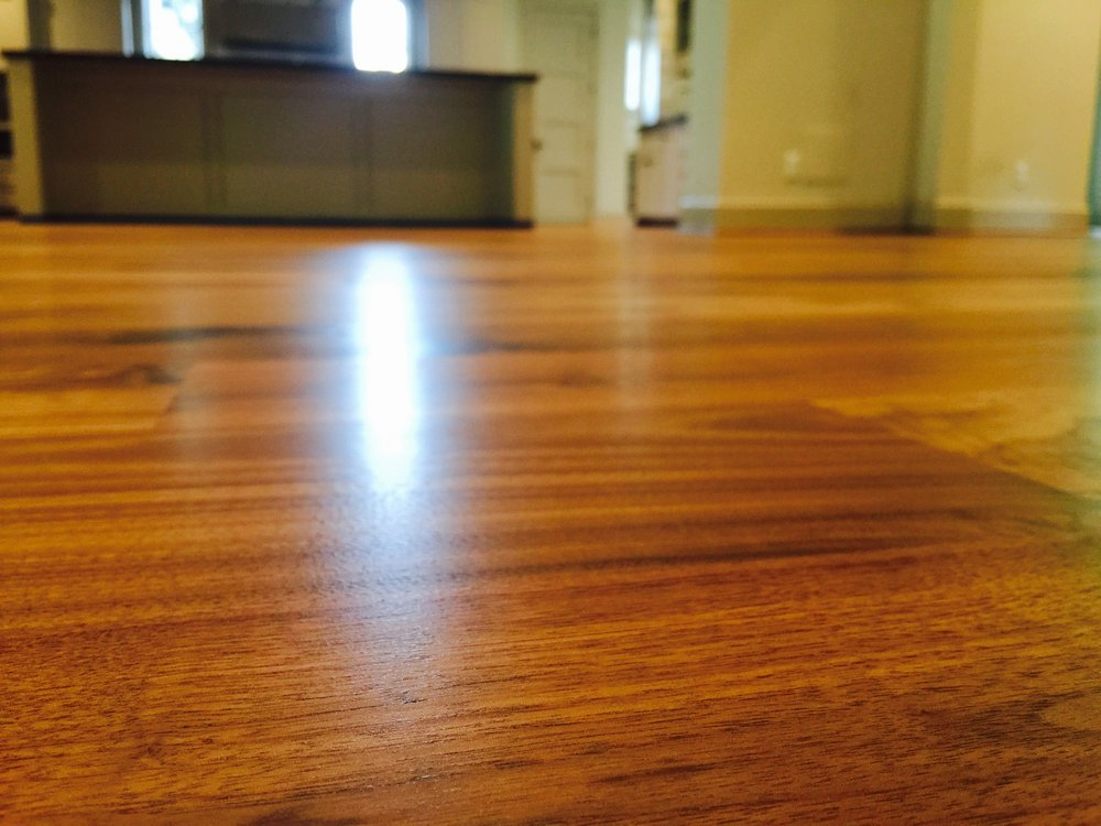 WOOD FLOOR REFINISHED  WITH WATERBASE BONA FINISH