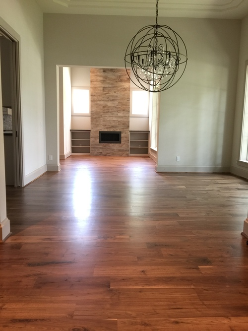 HARDWOOD WALNUT WOOD FLOOR REFINISHED