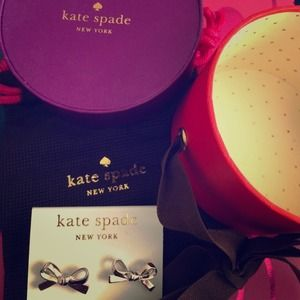 "Y'all I love these Kate Spade ""bow"" earrings...like to the point of obsessed. So Of course this makes my list!"