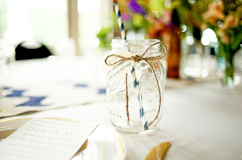 Mason jars seem to be a staple that is here to stay, so dress it up and make it work in a classy southern way!