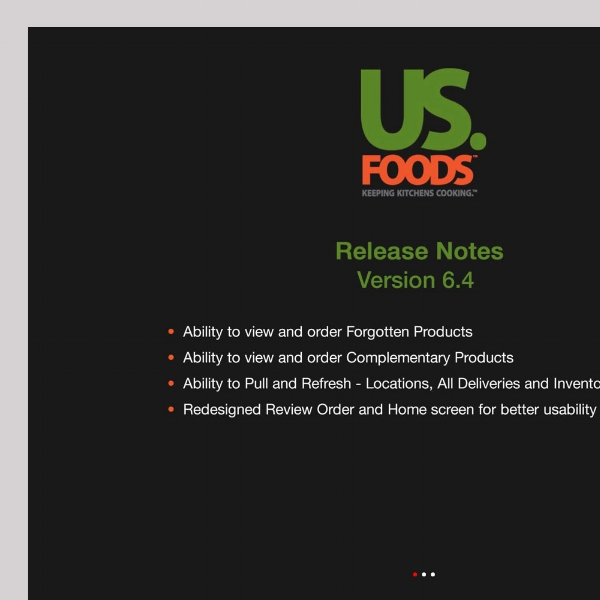 USFoods 2   My work with USFoods included several challenging prototyping projects, including the sites Hi-fi   Help Sections for Tablet and Mobile    screens.  The job involved working with a brief and directly with the project manager and developer through several iterations.