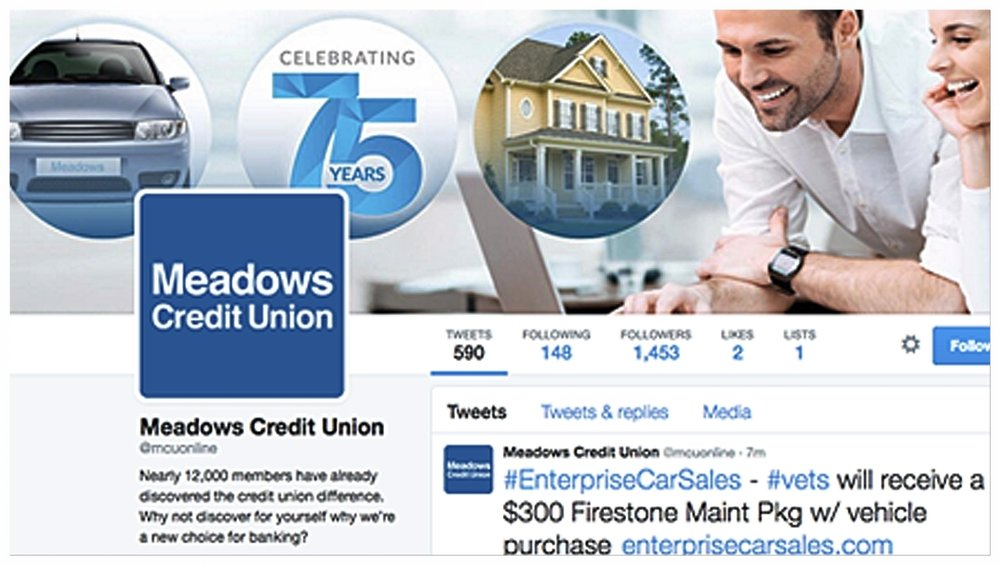 Meadows Credit Union - Social Media products