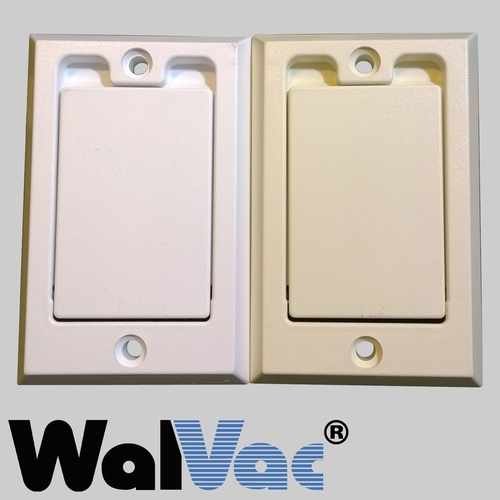 Central Vacuum Wall Plate Cool Inlet Cover Decora White 60WH Or Almond 60AL WalVac