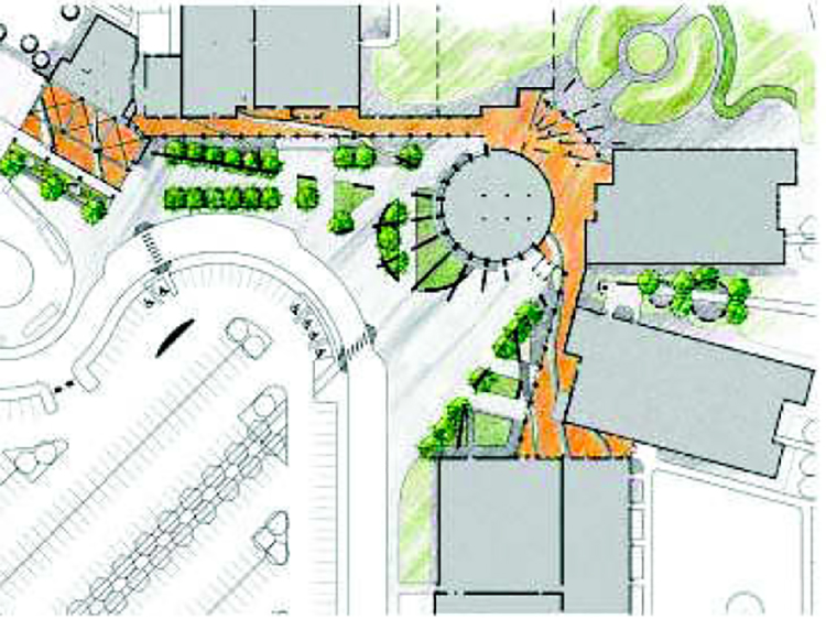 Entry plaza site plan