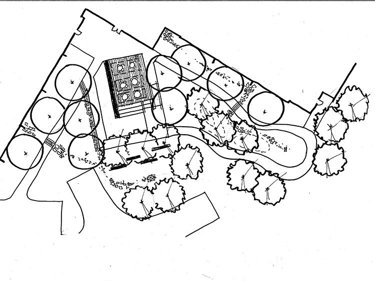 Therapy garden concept sketch